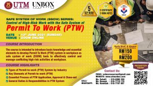 CONTROL OF HIGH‐RISK WORK WITH THE SAFE SYSTEM OF PERMIT TO WORK (PTW)