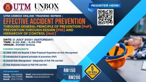 EFFECTIVE ACCIDENT PREVENTION AT WORKPLACE BY UTILIZING PRINCIPLE OF PREVENTION (PoP) AND HIERARCHY OF CONTROL (HoC)