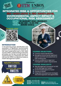 INTEGRATED RISK & OPPORTUNITIES FOR  ISO 14001:2015 & ISO 45001:2018, ENVIRONMENTAL ASPECT IMPACT & OCCUPATIONAL RISK ASSESSMENT