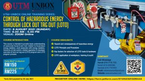 CONTROL OF HAZARDOUS ENERGY THROUGH LOCK OUT TAG OUT TRAINING